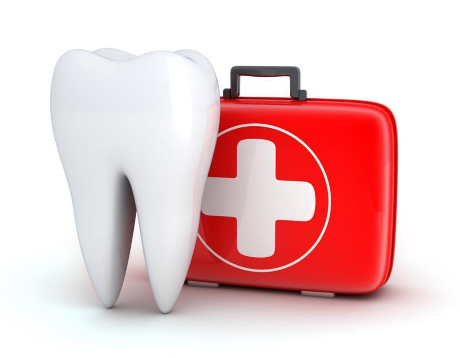Illustrated tooth and first aid kit | Edina MN Dentist