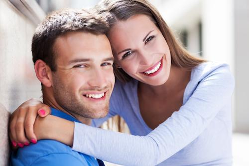 young couple smiling l morningside mn dentist