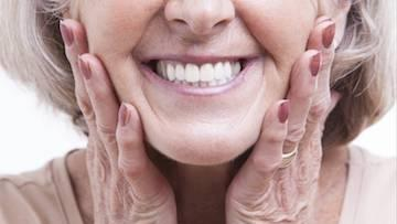 Image of individual smiling after transformed smile